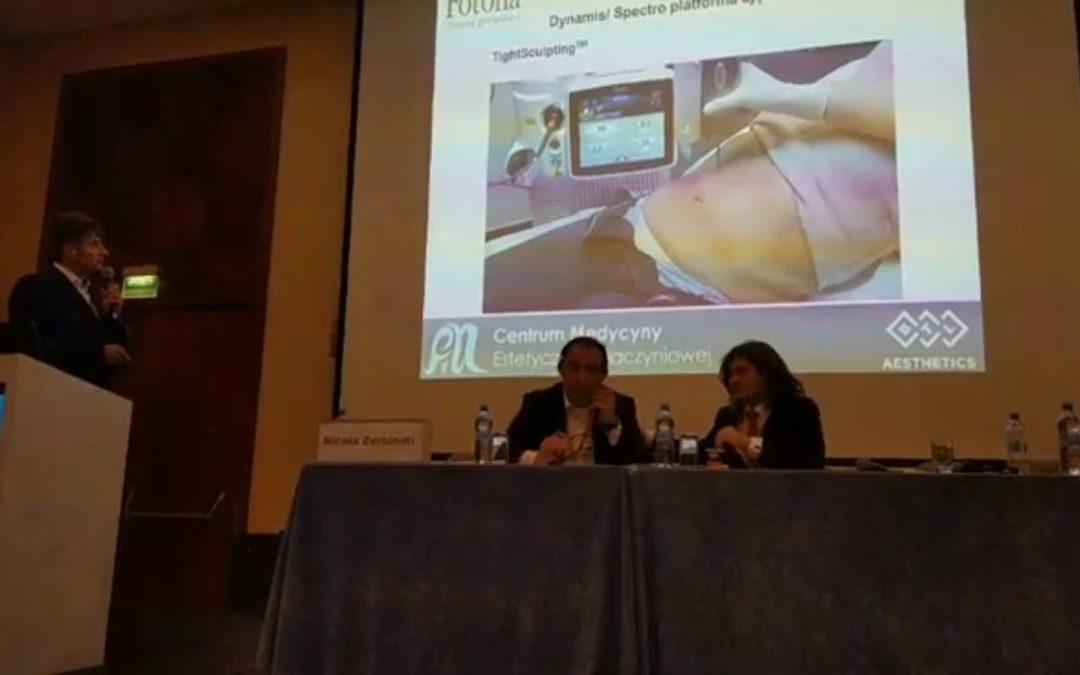 Wykład dr Marcina Wilczyńskiego w trakcie XVII Międzynarodowego Kongresu Medycyny Estetycznej i Anti-Aging, sesja poświęcona nowoczesnym technologiom w medycynie estetycznej